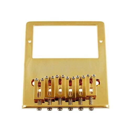 Gotoh 6-Saddle Humbucker Tele Bridge For Telecaster Gold TB-0031-002