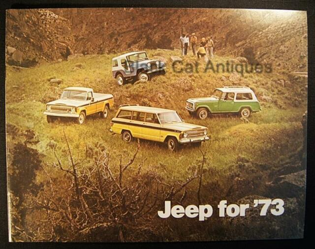 Original 1973 American Motors Jeep/Commando/Wagoneer/Truck Color Brochure Canada