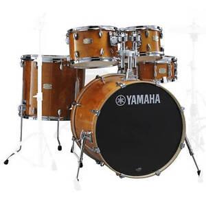Yamaha Stage Custom Birch 5pc Drum Set W 20 Bd Honey Amber