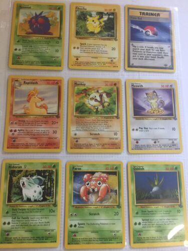 Common Set ~ LP ~ Very Good Condition Pokemon Jungle 27 Card Lot ~ Uncommon