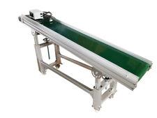 110v 708118 Green Pvc Belt Inclined Wall Conveyor Adjustable Height