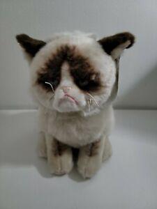 "GUND 9"" Sitting Grumpy Cat Stuffed Animal Plush New"