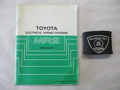 1986 Toyota Mr2 Electrical Wiring Diagram Service Manual Ebay