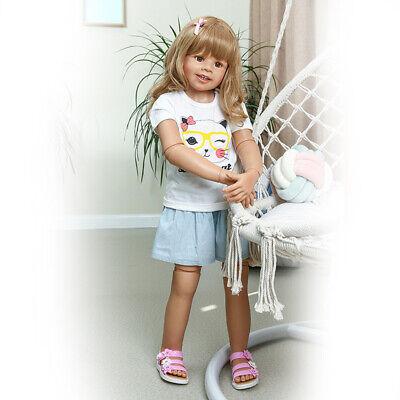 "Reborn Toddler 39/"" Huge Realistic Reborn Baby Dolls Girl Child Model Curly Hair"