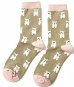 Size UK 4-7 Sausage Dog Bamboo Socks by Miss Sparrow