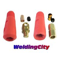 Welding Cable Quick Connector Pair (red) 100-200a (6-4) 16-25 Mm^2 (us Seller)