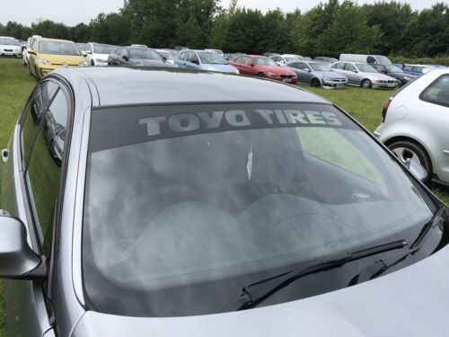TOYO TIRES  XXL Size Matte Black Stencil Track Car Sticker Free Delivery