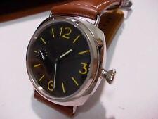 Radiomir Panhom 45mm Polished Steel Yellow Mark Handwind Parnis Watch m militare