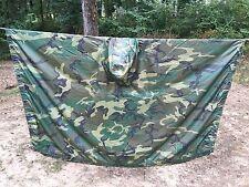 Genuine Issue US ARMY Woodland Camo Poncho/Shelter Half NSN 8405-01-100-0976