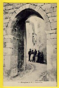 cpa-Ecrite-en-1917-FRANCE-06-MOUGINS-Alpes-Maritimes-Vieille-PORTE-Animes