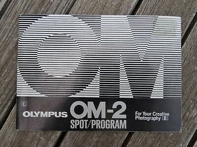 Free UK Post Original not a copy Olympus OM-2 Instruction Manual