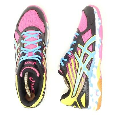 Asics Gel Flashpoint 2 Volleyball Shoes Sz 9.5 B456N Pink Blue Yellow Neon Sport 887749442618 | eBay