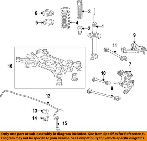 HONDA OEM 2014 Accord Rear Suspension-Strut 52611T3VA02