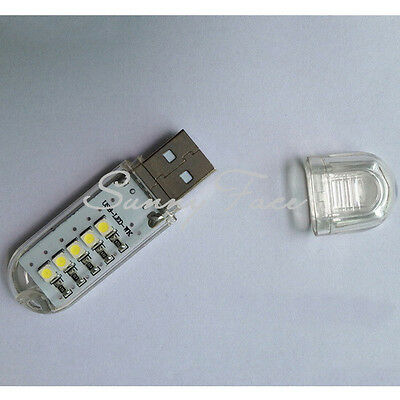 High Quality USB 5 LED White Night Light Lamp Computer Notebook Convenient