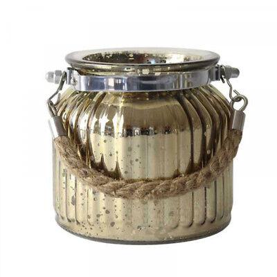Champagne Speckled Corda Tè Leggero Candela Porta Cero Nozze Centro Pezzo- Funzionalità Eccezionali