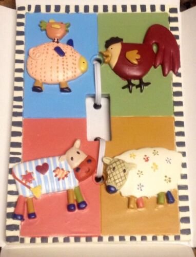 Kidsline Country Stack Light Switch Plate Cover Farm Barn Nursery Animal Acres