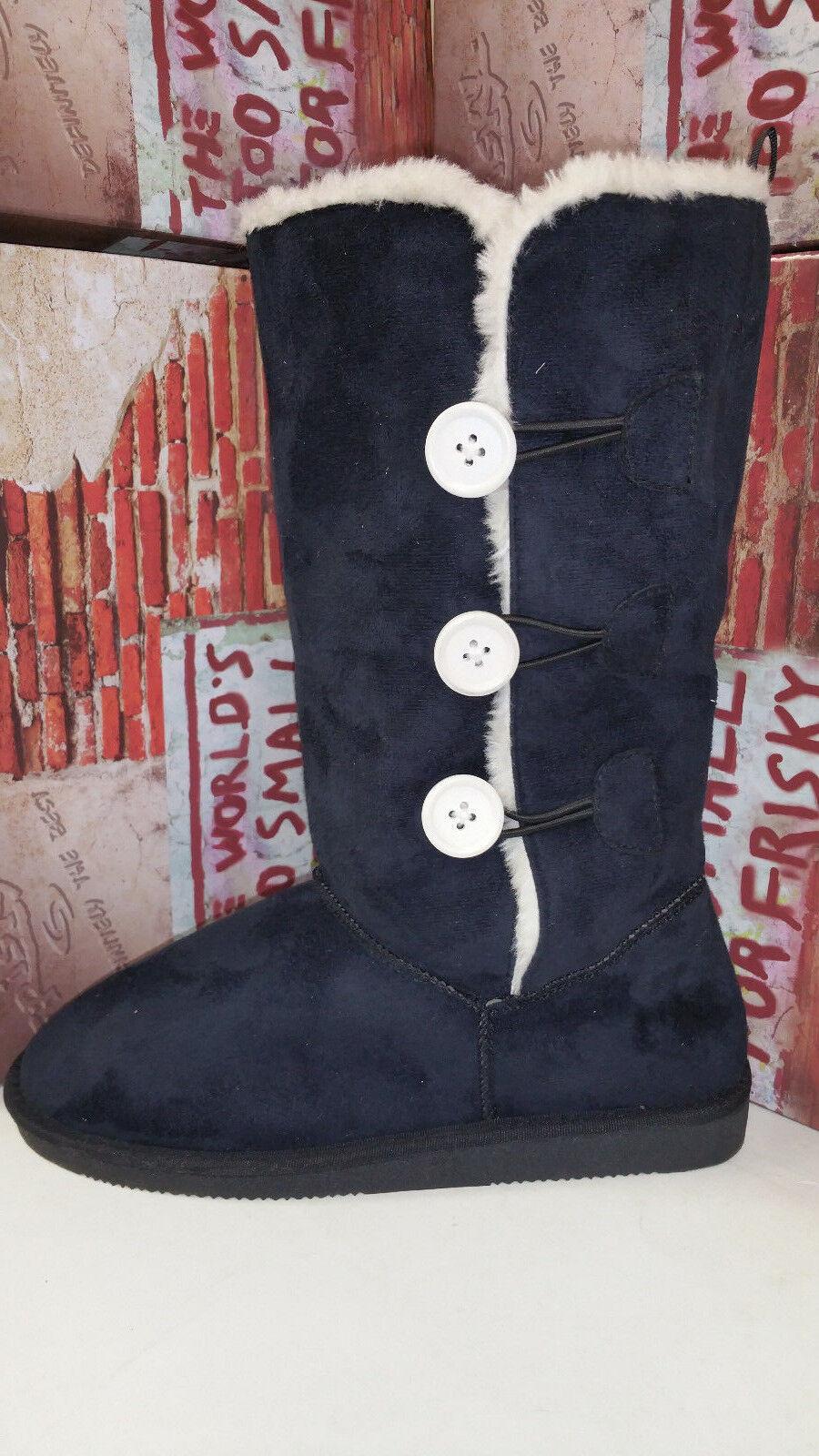 Frisky Black Faux Suede Women's Snow Winter Shoes Boots size 5-10 F9509