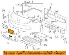 OEM NEW Front License Plate Mounting Bracket 15-18 Chevrolet Corvette 23111885