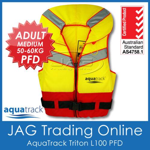 Foam Lifejacket Vest AQUATRACK TRITON ADULT MEDIUM 50-60KG L100 PFD LIFE JACKET
