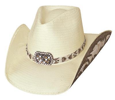 NWT Montecarlo Bullhide COWGIRL FANTASY Shantung Panama Straw Western Cowboy Hat