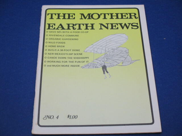 The Mother Earth News, July 1970, Rivendale Commune, Organic Gardening,Home Brew