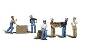 N-Woodland-Scenics-A2123-Figuren-Set-Dock-Workers-neu-OVP
