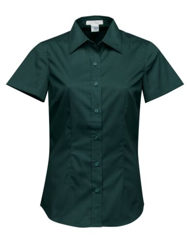 BLOUSE SHORT SLEEVE S-4XL LADIES LIGHTWEIGHT POLY//COTTON TWILL EASY CARE SHIRT