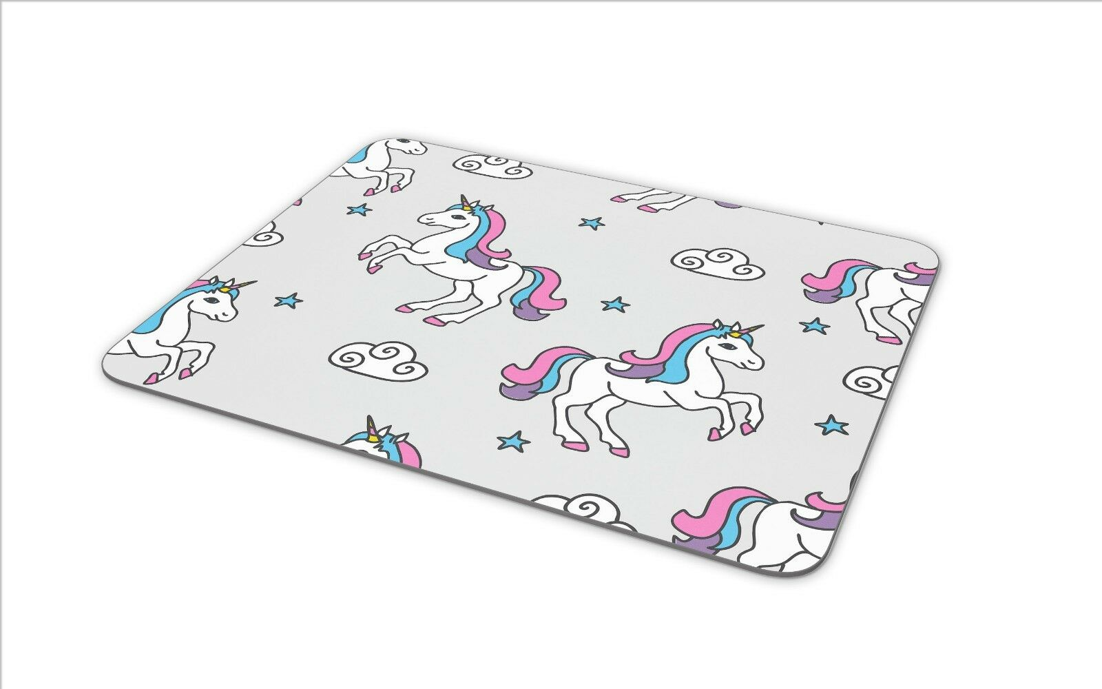 Personalised Unicorn Mouse Mat Pad Computer Gaming Magical Gift Girls Hers KS31
