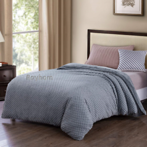 Royhom Embossed Duvet Covers for Weighted Blanket with Zipper Ties, Grey 48  x
