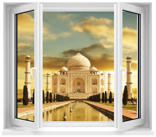 Aufkleber Fenster Schein Auge Tempel Taj Mahal