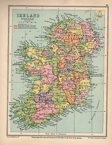 Map Of Ireland Leinster.Details About 1934 Map Ireland Ulster Munster Connaught Leinster Northern Ireland