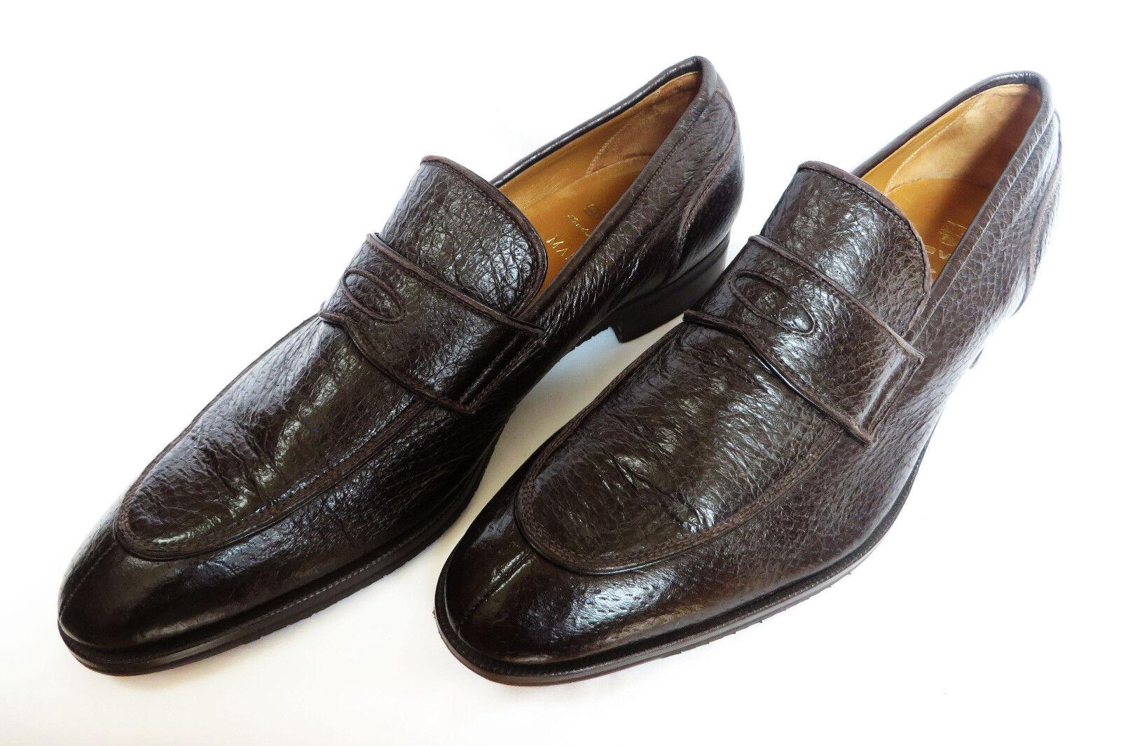 Gravati Italia Para Hombre de Cuero Slip Ons Split Toe peccary PENNY Mocasines zapatos 11