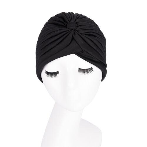 Women Muslim Turban Cancer Chemo Cap Stretch Wrap Beanie Head Scarf CoveR/_sh