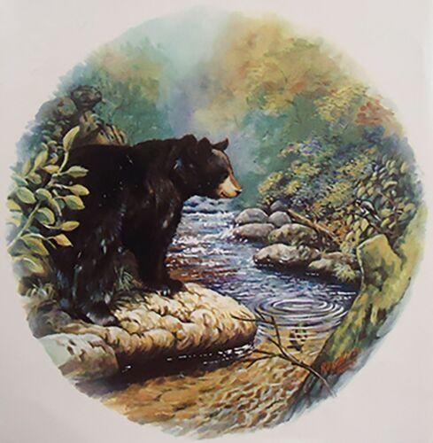 "2 Black Bear River Forest 2-5//8/""  Waterslide Ceramic Decals Xx"