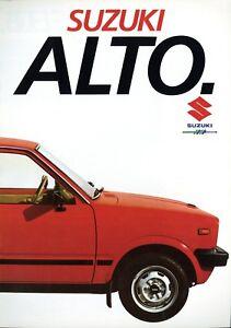 Fettiges Essen Zu Verdauen Suzuki Alto Prospekt 1984 1/84 Autoprospekt Brochure Prospectus Broschyr Catalog Um Zu Helfen Prospekte