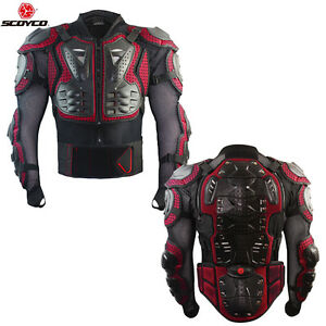 bbc4cc4cb53 Details about Motocross Riding Racing ATV Protector Full Body Armor Jacket  Dirt Bike Gear Red