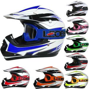 Leopard LEO-X16 Kids Motocross HELMET /& GLOVES Children Dirt Bike ATV Quad Motorbike Helmet