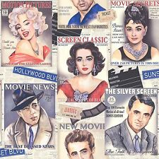HOLLYWOOD ICONS WALLPAPER - RASCH 239300 - NEW MARILYN MONROE JAMES DEAN