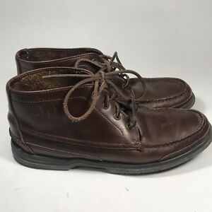 f91cfcba903 Details about Sebago Docksides Womens Moc Toe Distressed Leather Ankle  Boots Boat Shoes 9