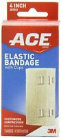Ace Elastic Bandage With Clips, 4 Inch, 1 Each on Sale