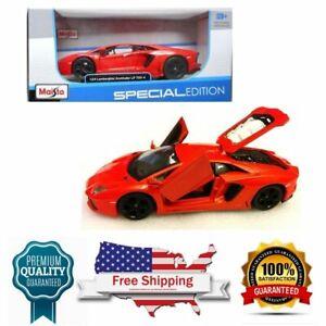 Nuevo-1-24-Maisto-con-B-Edicion-Especial-2011-Lamborghini-Aventador-LP-70-Naranja
