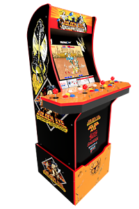 Golden-Axe-Retro-Arcade1UP-Cabinet-Arcade-1UP-Custom-Riser-Light-Up-Marquee-NEW