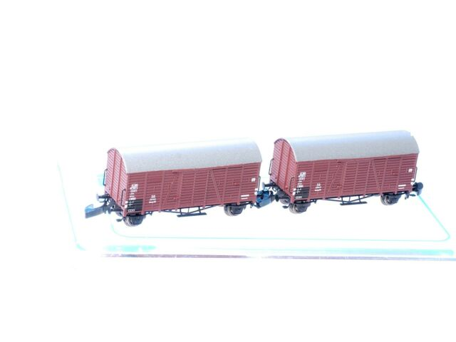 FR 2 ea BOX CAR SET Era III 49.334.12 German DB Z scale Freudenreich Gmrhs+Gmres