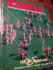 1976 OLE MISS REBELS VS TULANE  FOOTBALL PROGRAM