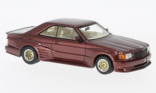 Mercedes 500 SEC  Koenig Specials rouge 1 43 Model NEO SCALE MODELS  classique intemporel