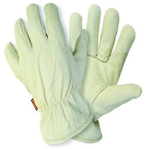 Da Donna Guanti da giardinaggio foderato in cotone Soft Leather hide GUANTI BIANCHI DA Briers