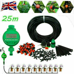 25M-Micro-Drip-Irrigation-Auto-Timer-DIY-Self-Plant-Watering-Garden-Hose-System
