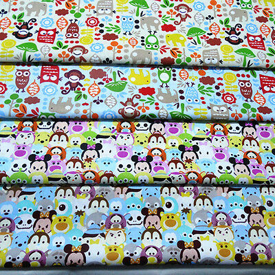 Cotton Fabric Pre-Cut Cotton Quilt cloth Fabric for Sewing Forest Guards D2