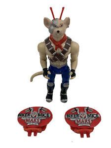 Biker-Mice-From-Mars-Vinnie-1993-Galoob-Plus-Pair-Of-Sneaker-Lace-Covers-B29