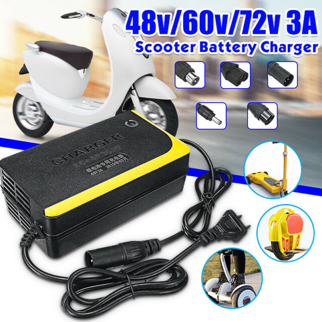 48V 3A Lithium Battery Charger Adapter For Electric Scooters Unicycles  @